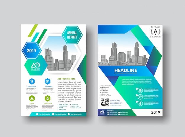 Prosty okładka broszura katalog ulotki na tle