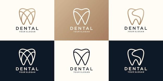 Prosty projekt logo dent zdrowia