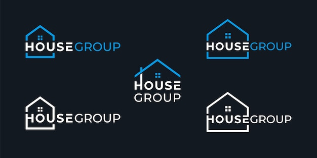 Prosty projekt logo grupy kreatywnego domu