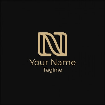 Prosty projekt logo litery n.