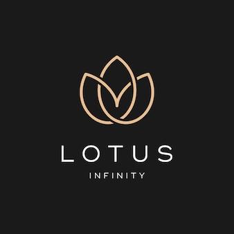 Prosty projekt logo lotus