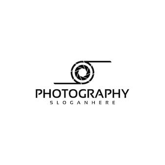 Prosty projekt logo obiektywu aparatu