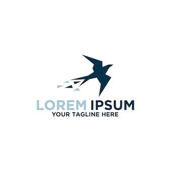 Prosty projekt logo pikseli ptaków