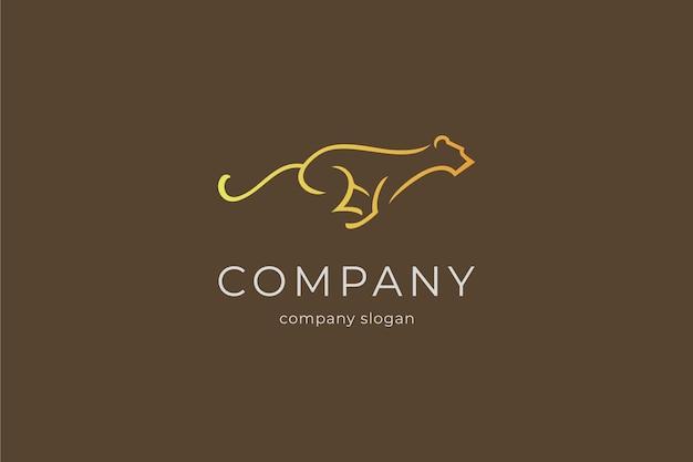 Prosty szablon logo pantery wektor ikona ilustracja