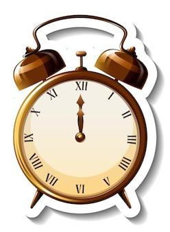 Prosty szablon naklejki z klasycznym zegarem