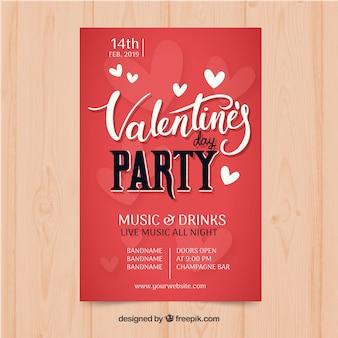 Prosty szablon plakat valentine party