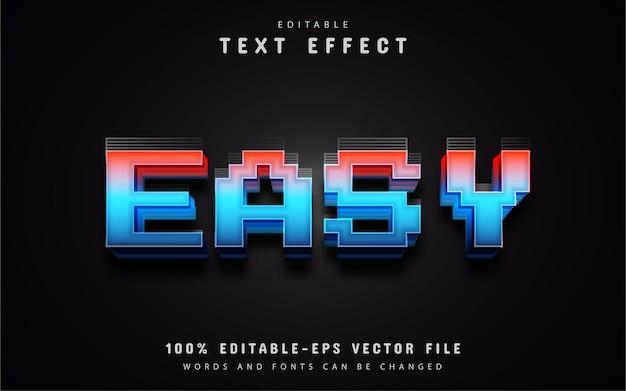 Prosty szablon stylu pikseli efektu tekstowego