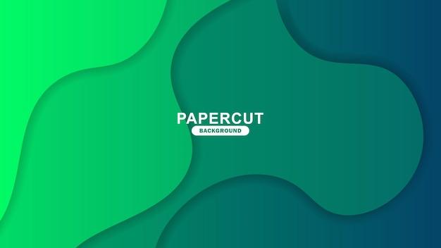 Prosty szablon tła papercut