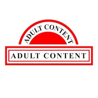 Prosty wektor grunge czerwona pieczątka, treści dla dorosłych, na białym tle