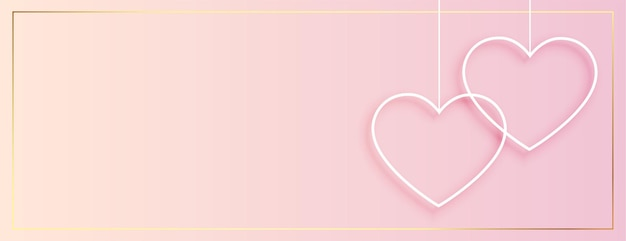 Prosty wiszący sztandar serca na walentynki