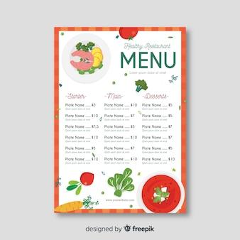 Prosty zdrowy szablon menu