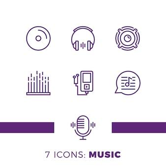 Prosty zestaw dźwięków związanych z muzyką