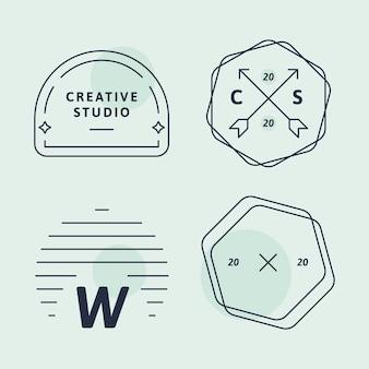 Prosty zestaw logo firmy