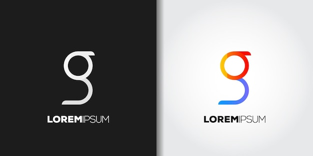 Prosty zestaw logo litery g