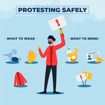 Protestowanie bezpiecznie plansza szablon