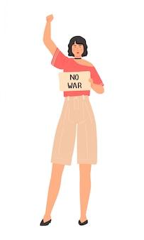 Protestujący ludzie przeciw dyskryminaci wszystkie żyje metr, set postać z kreskówki odizolowywający na bielu, ilustracja