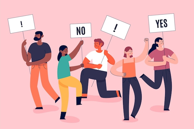 Protestujący ludzie zatrzymują rasizm