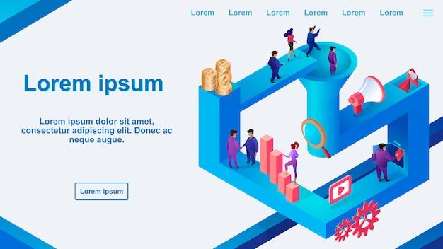 Prowizja web banner - wektor optymalizacji konwersji