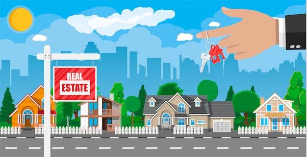 Prywatny dom na przedmieściach. nieruchomość