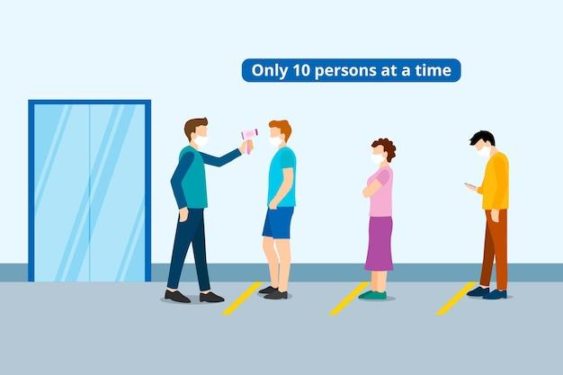 Przechowywać z ograniczoną liczbą osób