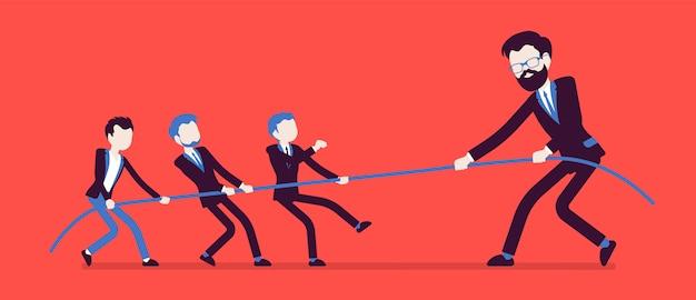 Przeciąganie liny, mężczyźni kontra olbrzymy