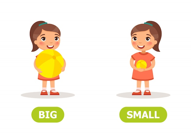 Przeciwieństwa dużych i małych