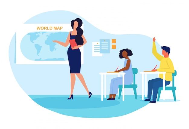 Przedmiot geograficzny, lekcja płaska