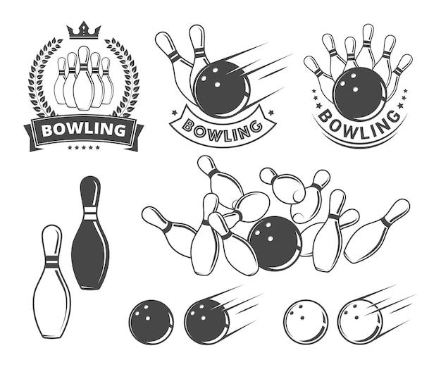 Przedmioty do gry w kręgle i emblematy