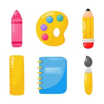 Przedmioty edukacyjne. ikona szkoły na białym tle.