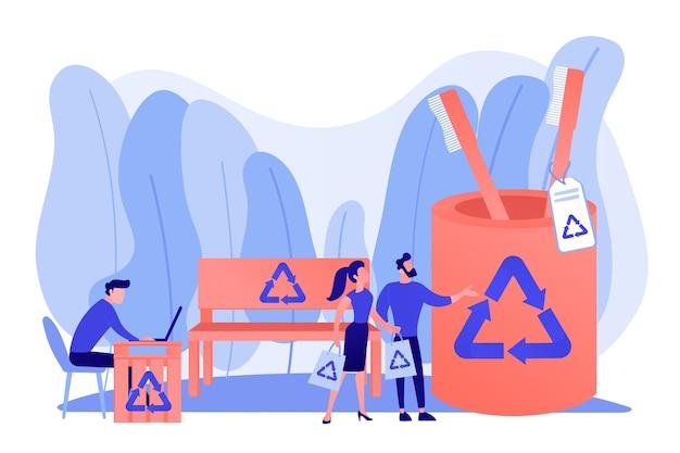 Przedmioty wielokrotnego użytku, alternatywne materiały nienadające się do recyklingu