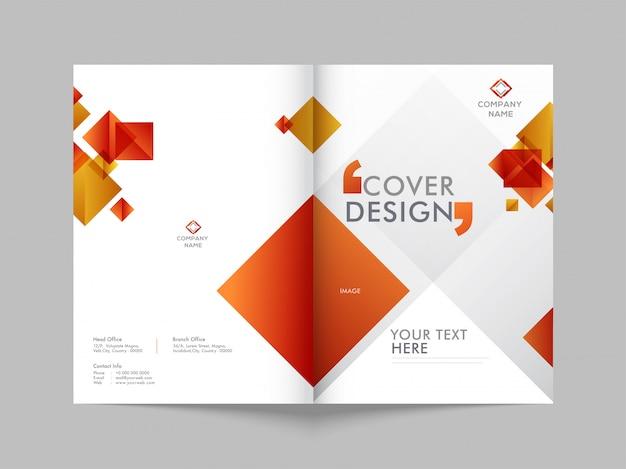 Przednia i tylna okładka broszury biznesowej.