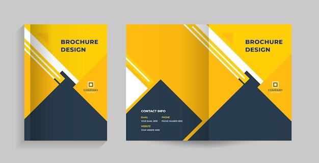 Przednia i tylna okładka broszury, profilu firmy, propozycji, magazynu raportów rocznych