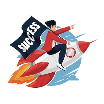 Przedsiębiorcy napędzają rakiety, aby ulepszyć lub opracować strategie biznesowe