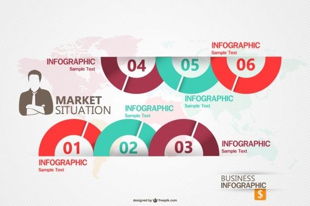 Przedsiębiorstw obrotu infograhic szablon