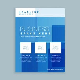 Przedsiębiorstw obrotu szablon ulotki broszury