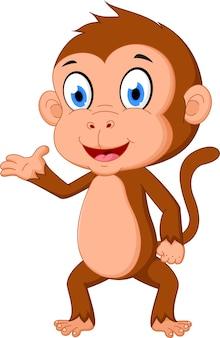 Przedstawiająca kreskówka małpy