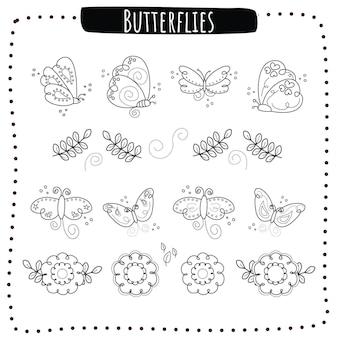 Przedstawione motyle