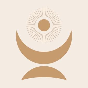 Przedszkole dla dzieci księżyc wzór graficzny ikona boho minimalistyczny t shirt projekt elementu ptint