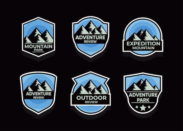 Przeglądaj zestaw symboli mountain advanture