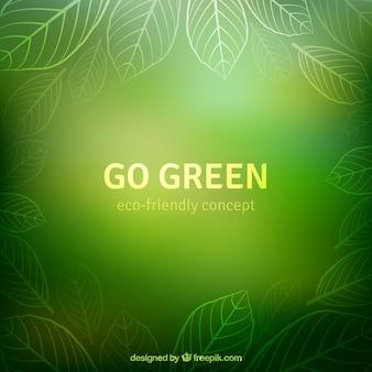 Przejdź zielone tło