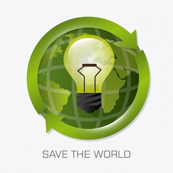 Przejdź zielony projekt ekologii.