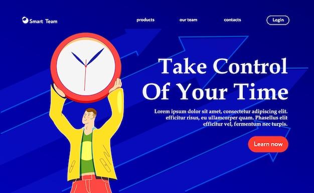 Przejmij kontrolę nad swoim czasem. nowoczesna ilustracja