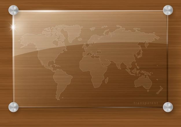 Przejrzysta mapa świata