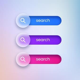 Przejrzyste przyciski wyszukiwania
