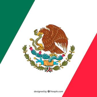 Przekątna meksykański flaga tło