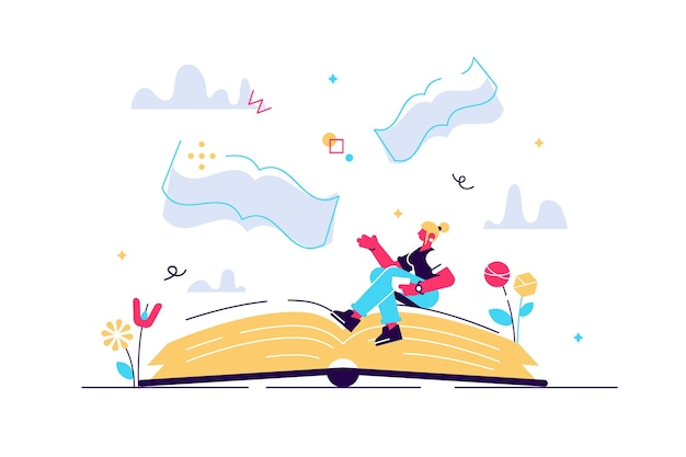 Przekaz książek jako znaczenie literackie i idea moralna autora koncepcja małej osoby