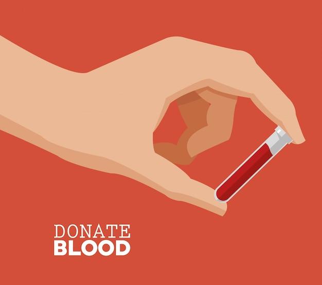 Przekaż test krwi w probówce z krwią