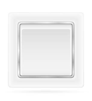 Przełącznik elektryczny do okablowania elektrycznego w pomieszczeniach na białym tle