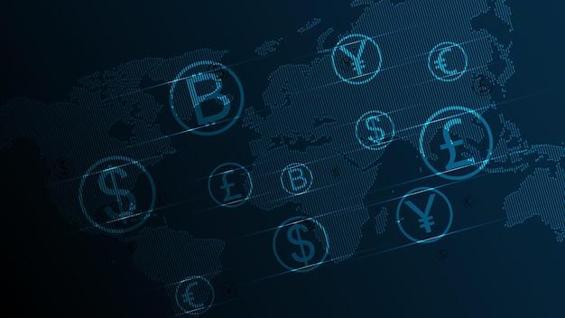 Przelew, transakcja pieniężna, globalna sieć walutowa, koncepcja biznesowa giełdy