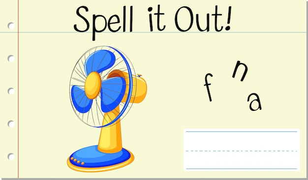 Przeliteruj angielskie słowo fan